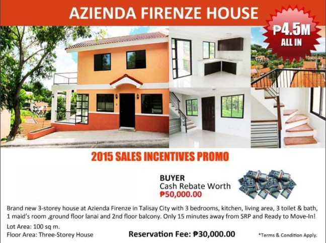house and lot for sale - Azienda Firenze House - Talisay