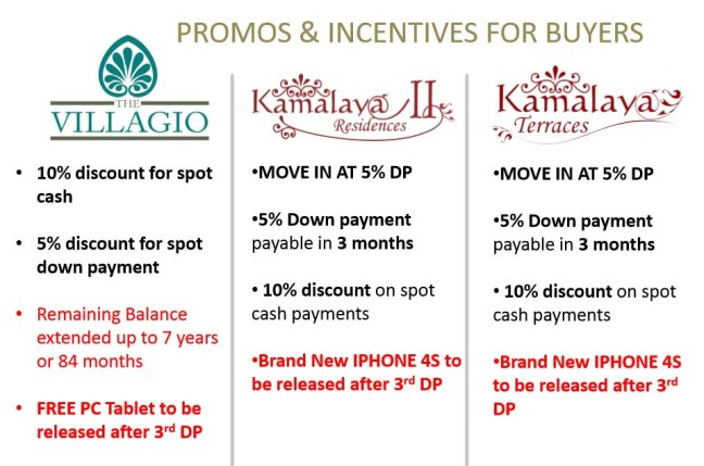 Nexus Properties Promo and Incentives 082015
