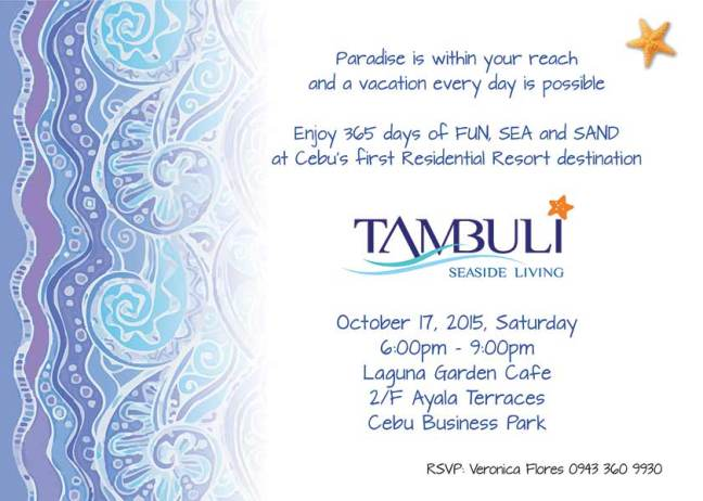 Condo for Sale - Tambuli Seaside Living Event