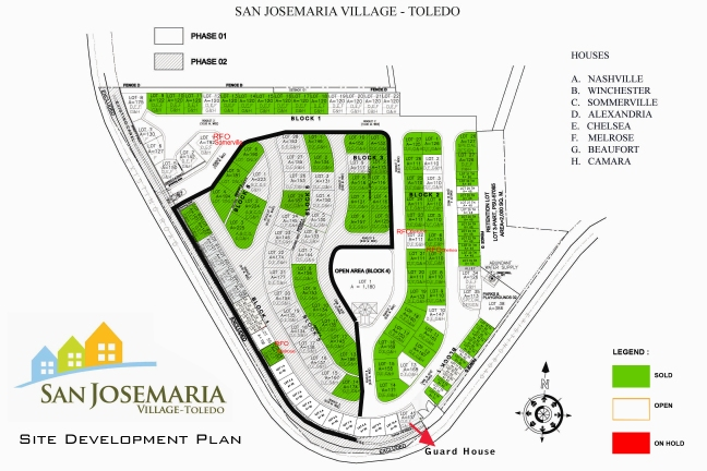 San Josemaria Village - Toledo Site Map