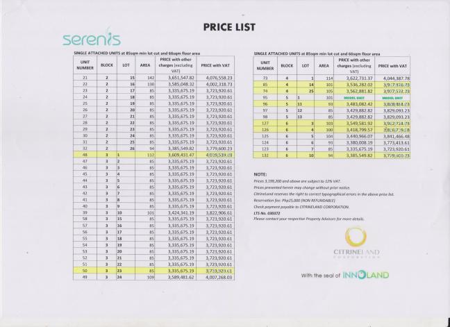 Serenis Pricelist 07.17.16 page 3