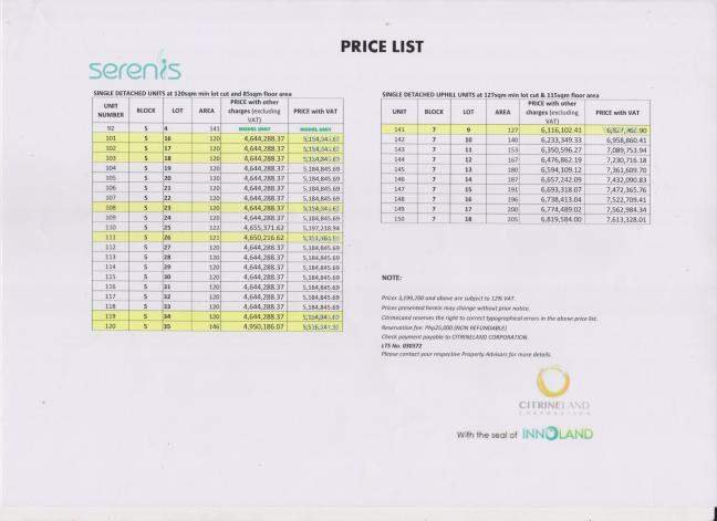 Serenis Pricelist 07.17.16 page 4