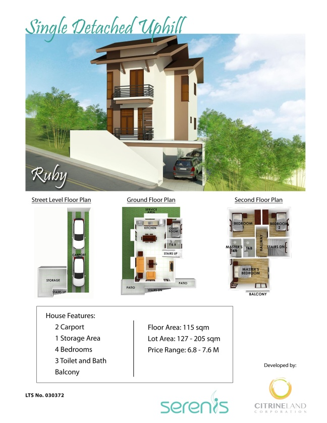 House and Lot For Sale - Serenis North - Liloan, Cebu Philippines -Single Detached Uphill Unit